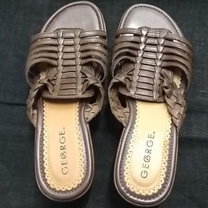 Cute wedge slip on sandels